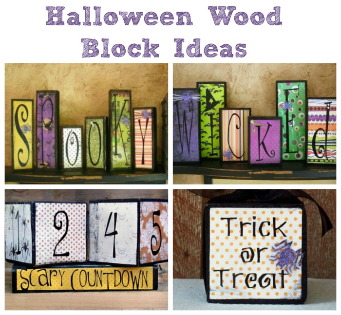 Wood Block Craft Ideas ~ Spooky halloween food crafts and family