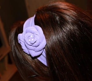 Tshirt Headband | T-shirt Head Band | DIY Fashion Accessories | Handmade | No Sew | Fabric Flowers