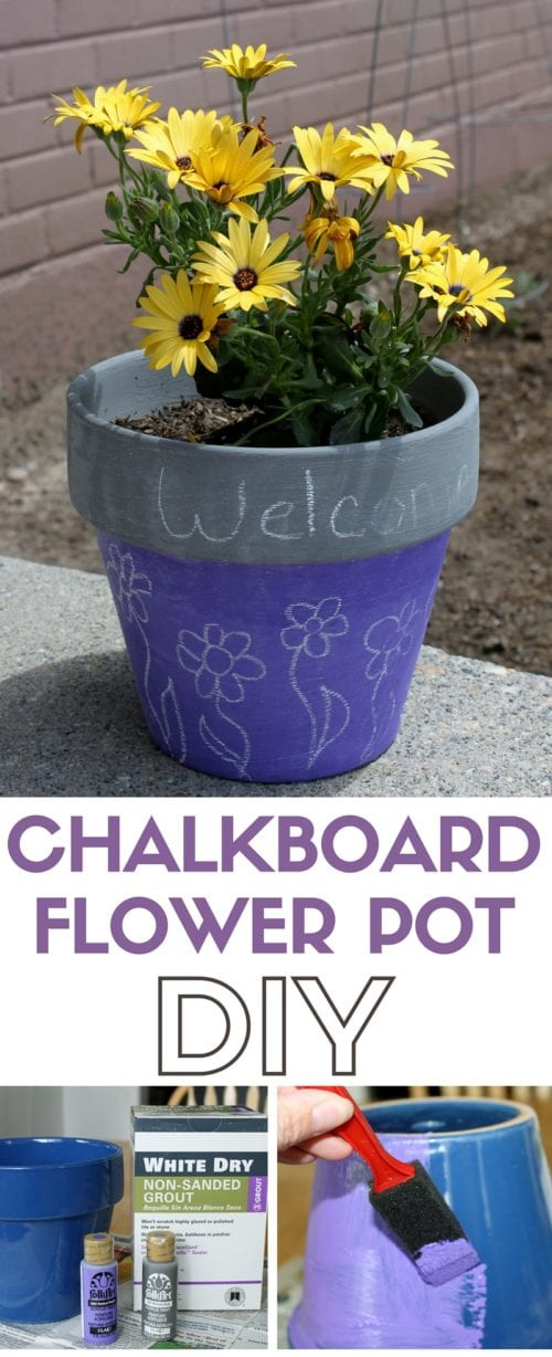 Chalkboard Flower Pot | Chalk Board Paint Recipe | Outdoor Decor | DIY Craft Ideas
