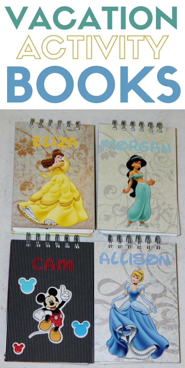 Kid's Vacation Activity Books | Disneyland | California Vacation | Autograph Book | DIY