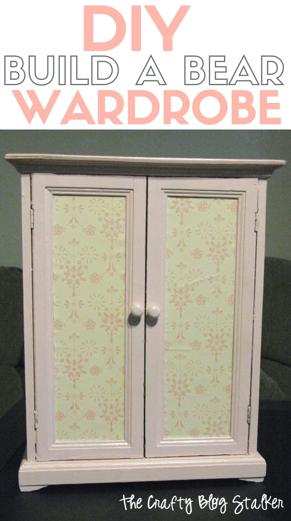 I'll show you how I repurposed this yard sale jewelry box into a toy wardrobe closet for Build a Bear clothes. A simple DIY craft tutorial idea.