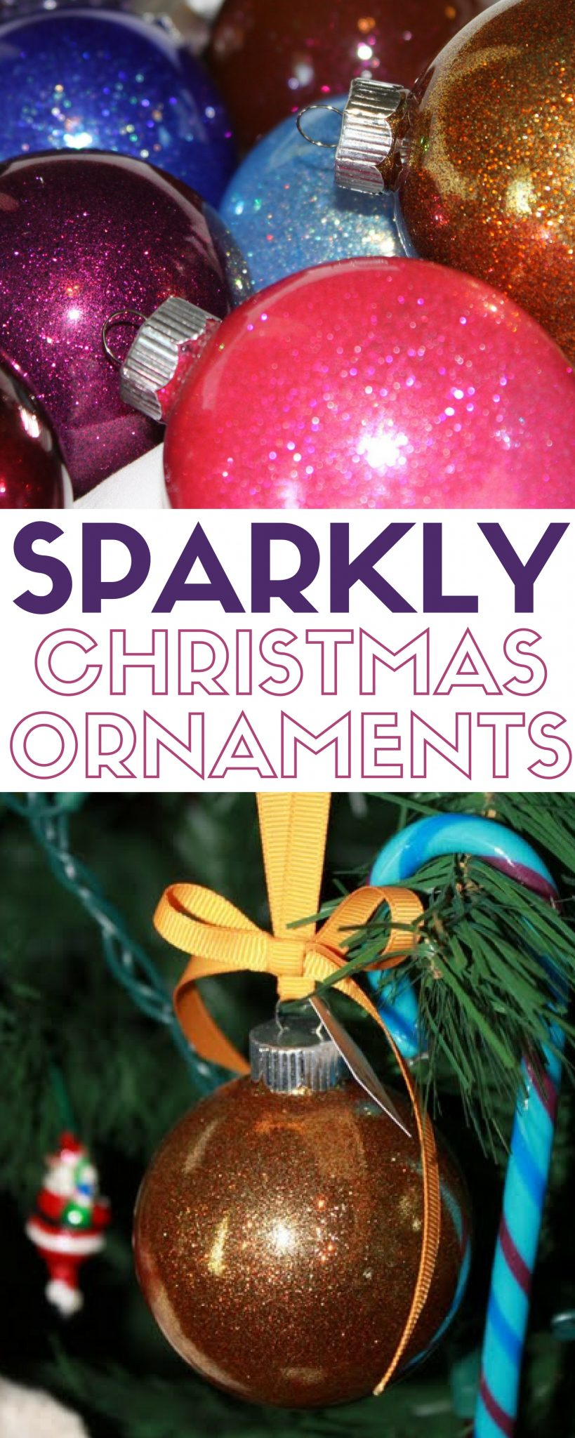 Create a beautiful sparkly Christmas ornament to hang on your Christmas Tree. This handmade keepsake ornament will be a favorite for years to come.