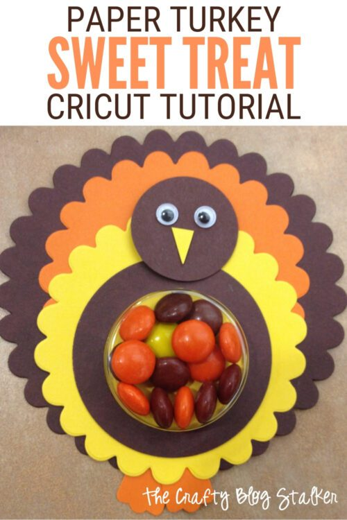 title image for How to Make Paper Turkey Sweet Treat Gift for Thanksgiving