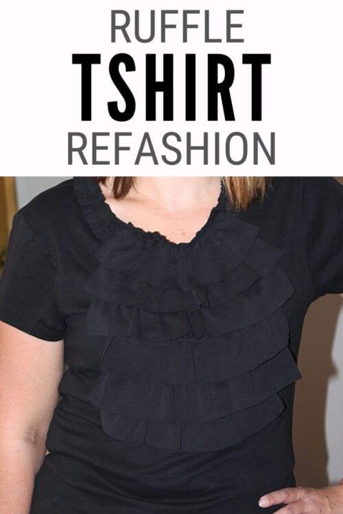 Titelbild für Ruffle TShirt Refashion