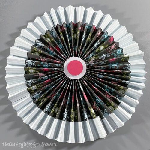 accordion paper rosettes