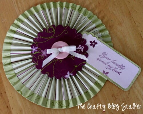 styled accordion paper rosettes