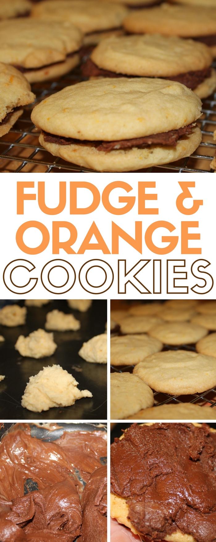 Fudge and Orange Cookies | Fudge Cookies | Homemade | Cookie Recipes | Easy DIY Dessert Recipe Idea