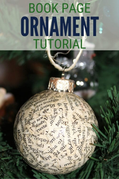 title image for How to Make Handmade Book Page Christmas Ornaments