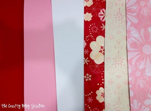 Paper Strip Hearts | Valentine's Day | Party Decor | Paper Crafts | Banner | Hanging Hearts | Easy DIY Craft Tutorial Idea