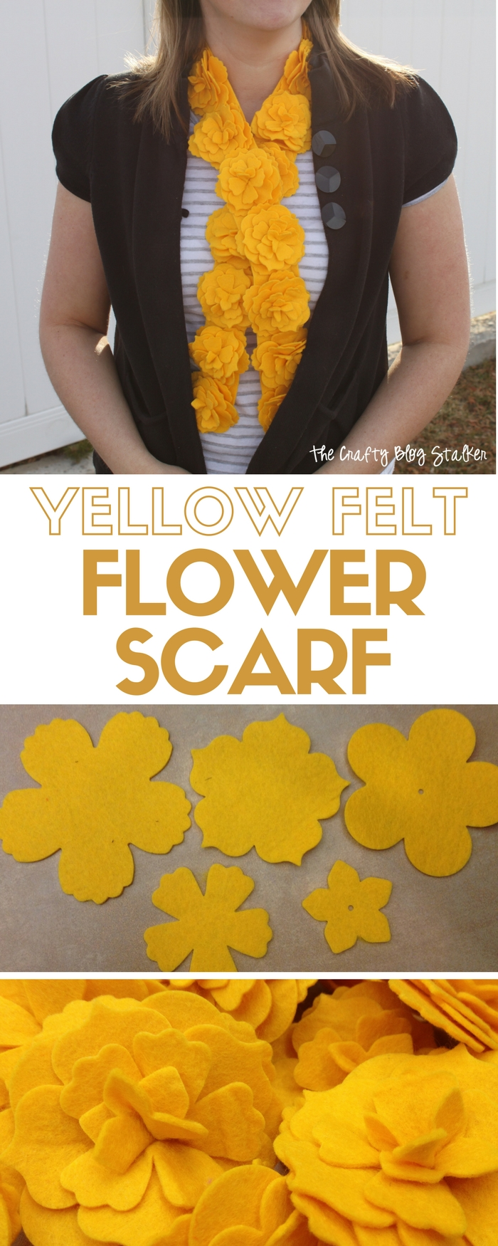Make your own Felt Flower Scarf using a Sizzix Big Shot. DIY craft tutorial includes easy to follow instructions for a fashion accessory that your style!