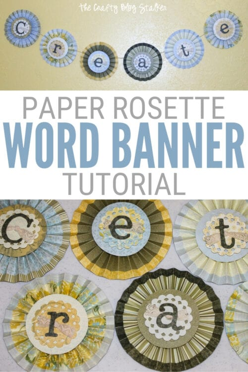 title image for How to Make a Paper Rosette Word Banner