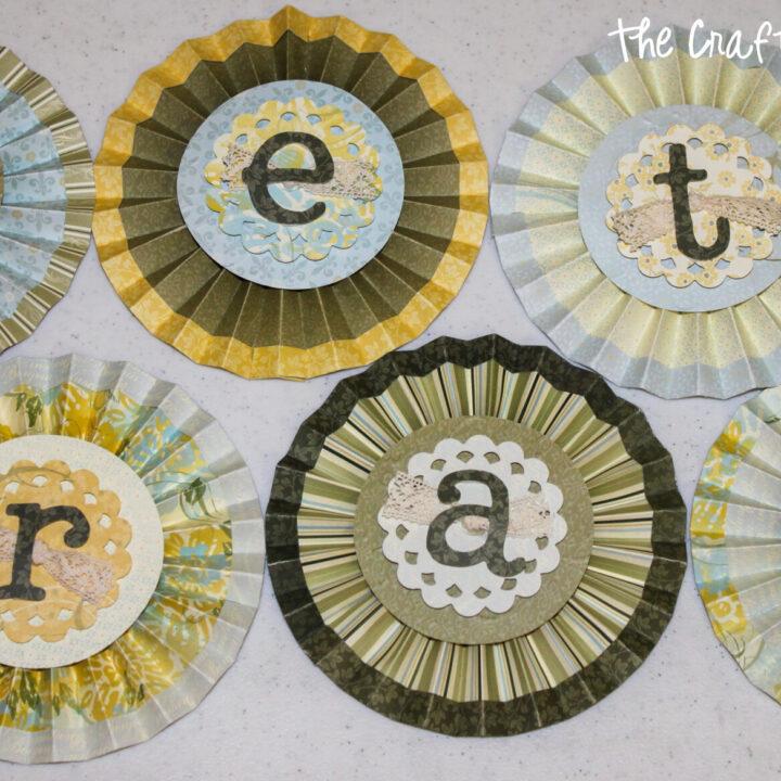paper rosette word banner 14