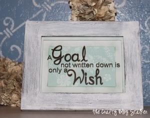 How to Make a Distressed Frame & Quote