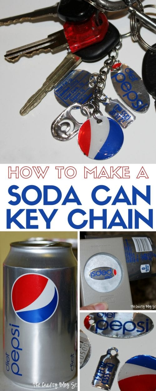 25 Easy Dollar Store Craft Ideas for Adults featured by top US craft blog, The Crafty Blog Stalker: soda can keychain