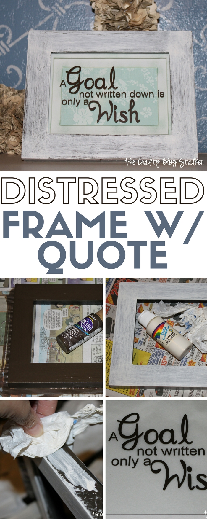 How to make a distressed frame with vinyl quote distress a frame. An easy DIY craft tutorial idea for beautiful personalized home decor.