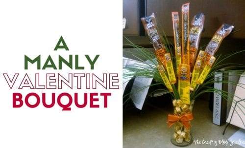 Manly Valentine Bouquet | Jerky | Sweet Treats | Handmade Gift | Gifts for Men | Father's Day | Birthday | Easy DIY Craft Tutorial Idea