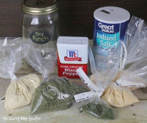 A dry ranch mix recipe that makes the most delicious creamy ranch dressing or dip. Make your own homemade ranch, a simple DIY recipe tutorial idea.