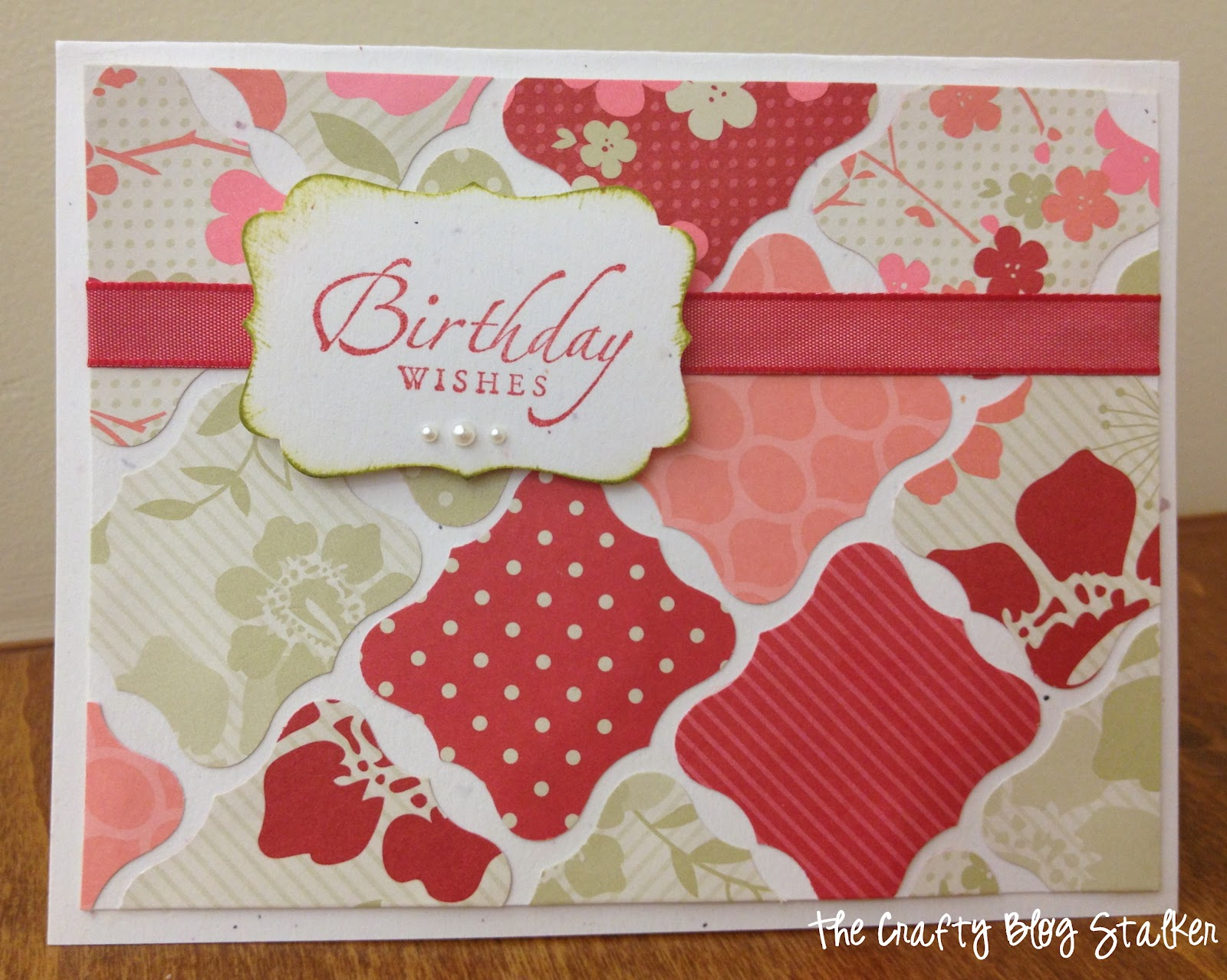 DIY Birthday Wishes CardThe Crafty Blog Stalker
