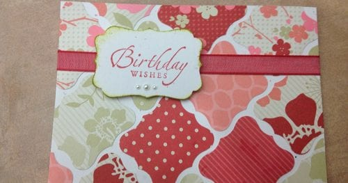 How to Make a Birthday Wishes Handmade Birthday Card, featured by top US craft blog, The Crafty Blog Stalker.