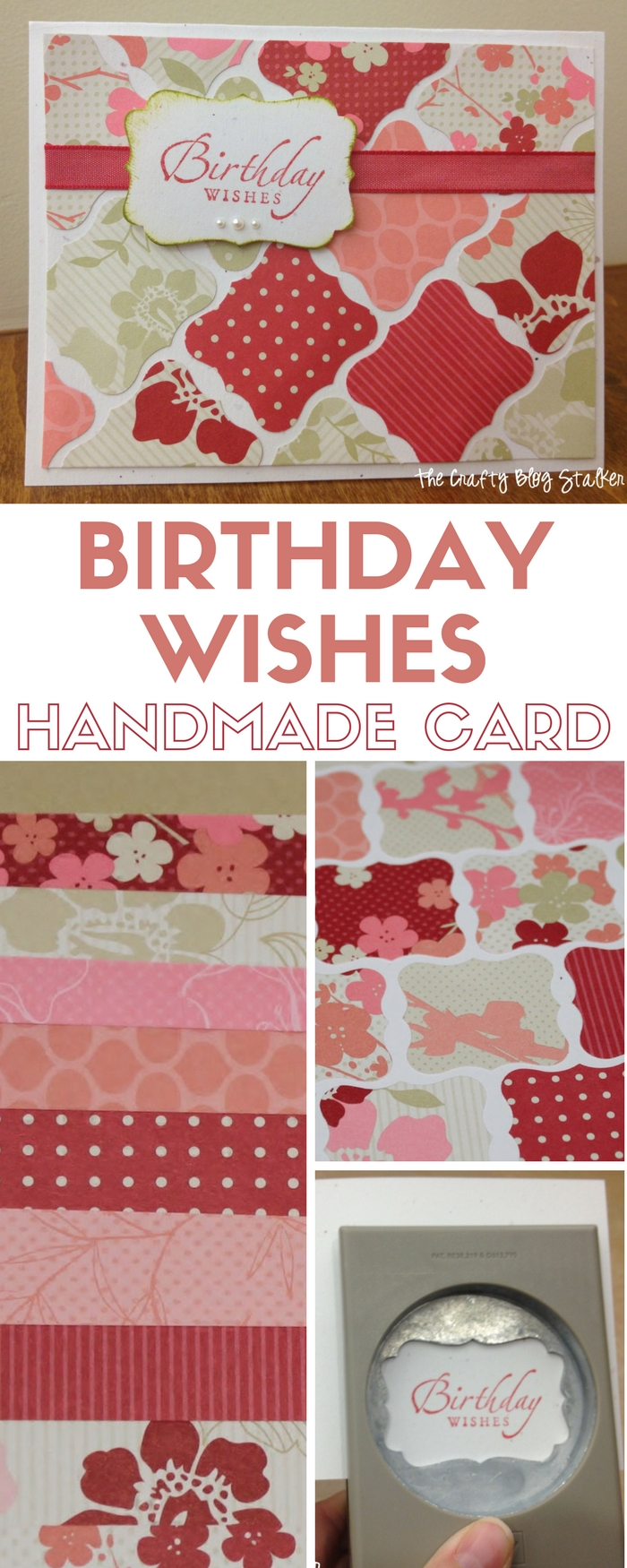 Handmade Birthday Card | Birthday Wishes Card | Patterned Paper | Paper Crafts | DIY