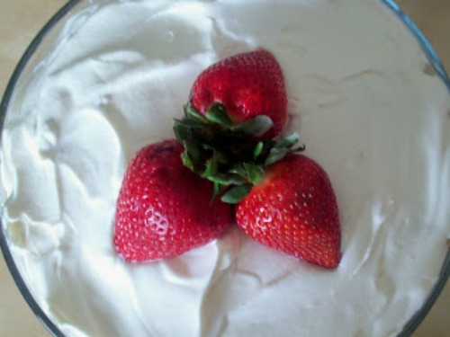strawberries on top