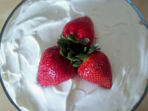 strawberries on top