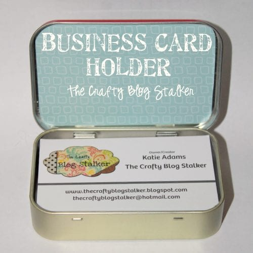 Business Card Holder | Altoids Tin | DIY Case | Cute