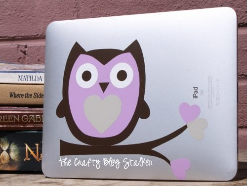 iPad Decal | Vinyl | Silhouette Cameo | Owls | DIY