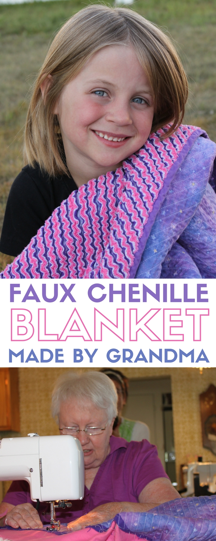 Faux Chenille Blanket | Quilt by Grandma| Quilting | Baby Blanket | Baby Quilt | DIY