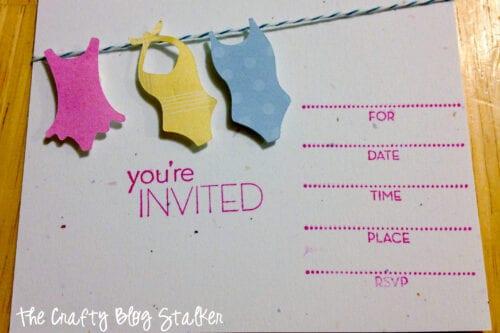 swimsuit birthday party invite