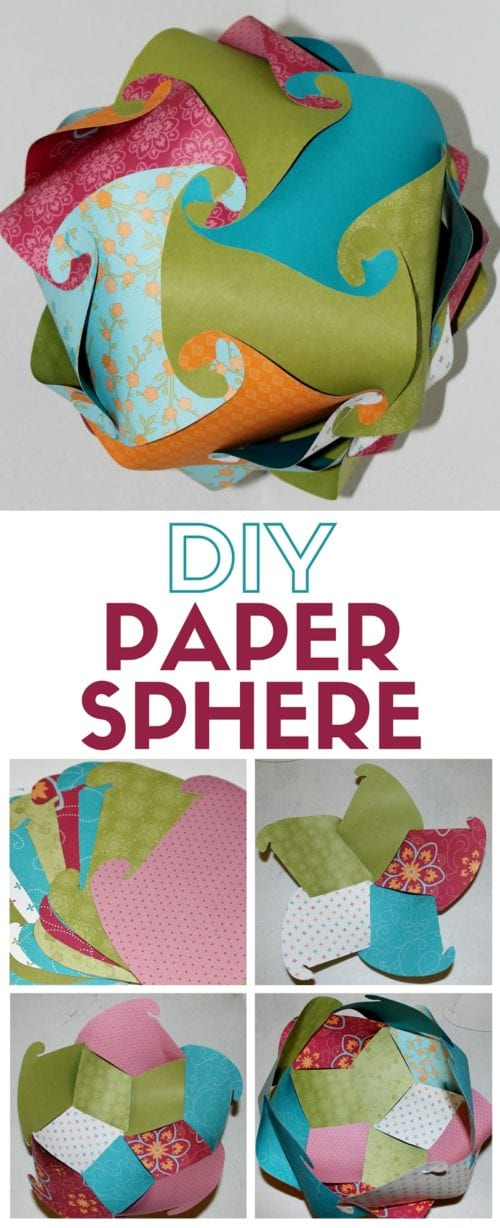 Patterned Paper Sphere | DIY Home Decor | Paper Crafting | Handmade