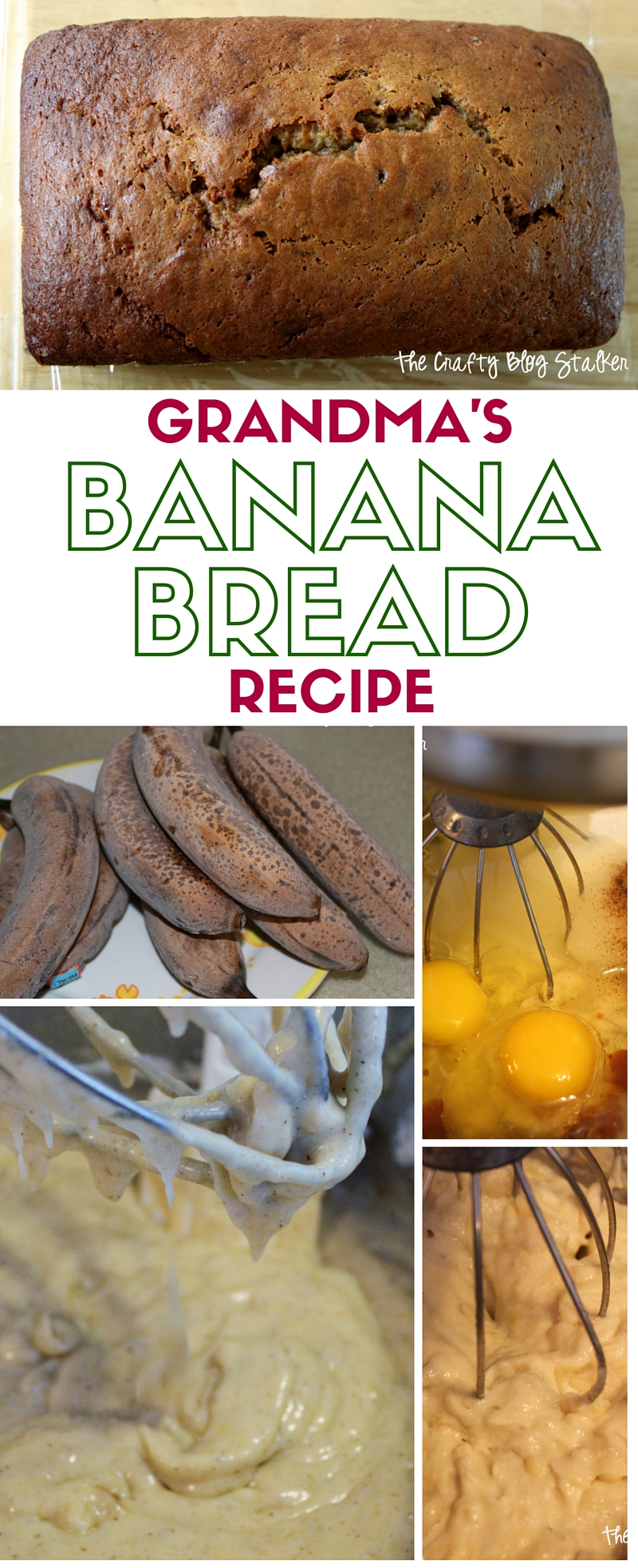 Grandma's Banana Bread Recipe | The Best Banana Bread | Easy Recipes
