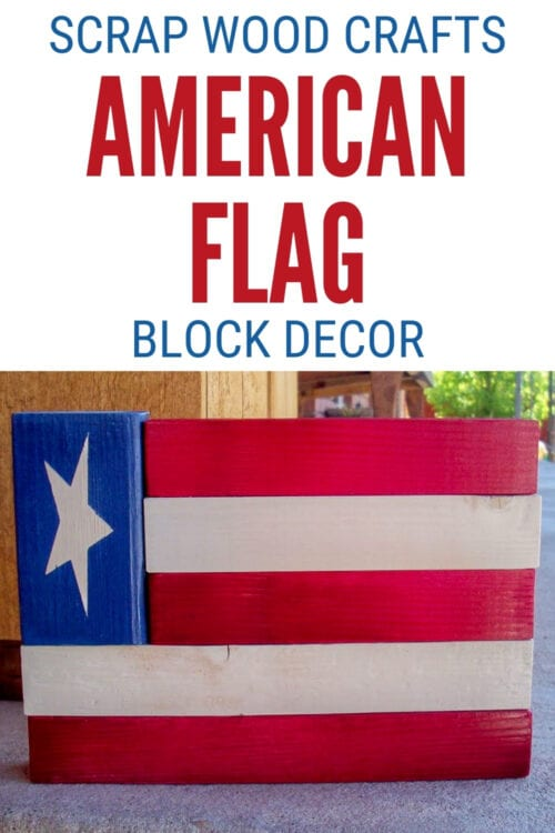 title image for How to Make Wood American Flag Decor