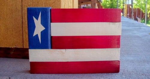 wood american flag decor 11