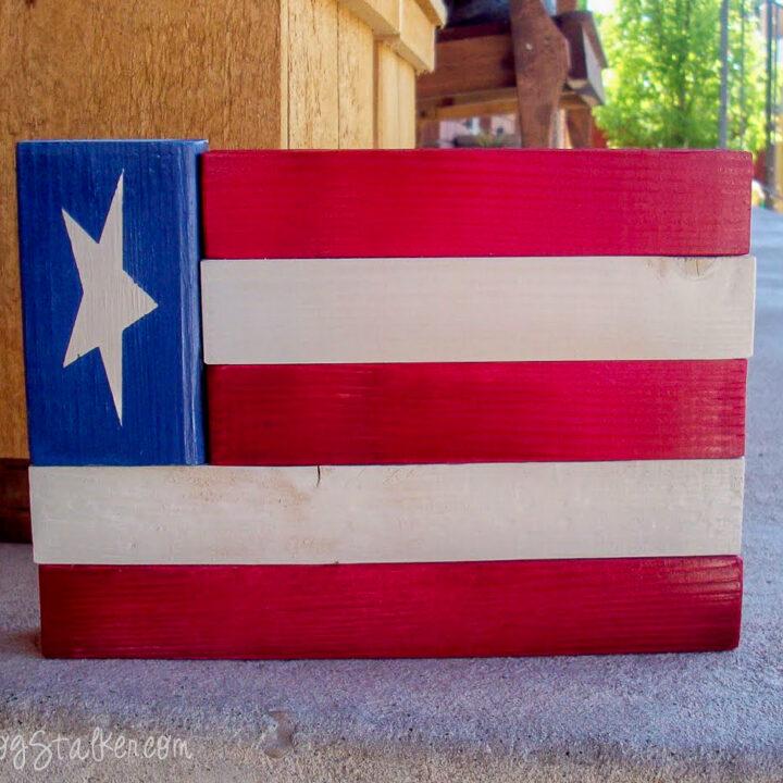 wood american flag decor 9