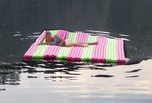 image of a woman on a Floating Pool Noodle Lounger
