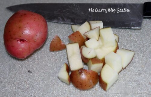 image of diced potatoes