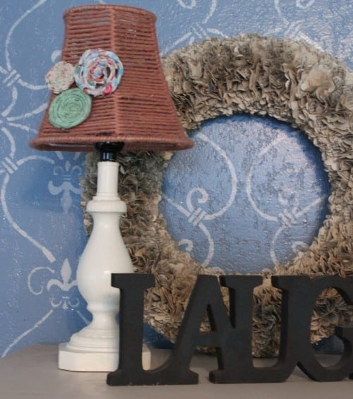 How to Paint a Lamp and Lampshade tutorial featured by top US crafty blog, The Crafty Blog Stalker
