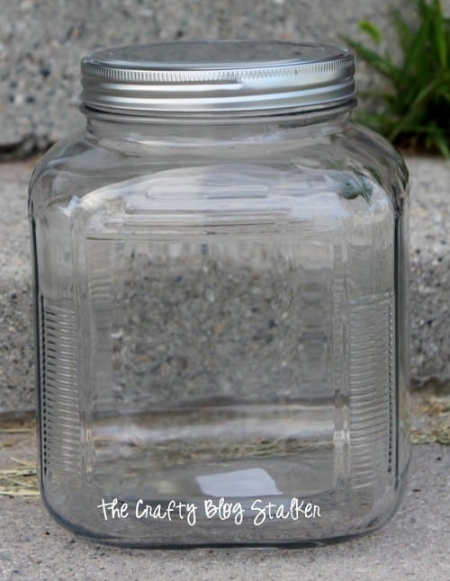 How to Make a Vinyl Stache Jar Wedding Gift Idea featured by top US craft blog, The Crafty Blog Stalker: glass jar