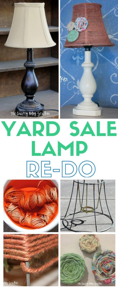 Makeover a Yard Sale Lamp | Home Decor | Dyed Twine | DIY