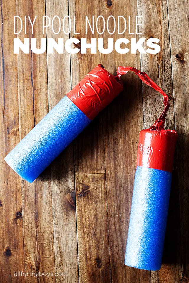 image of Pool Noodle Nunchucks
