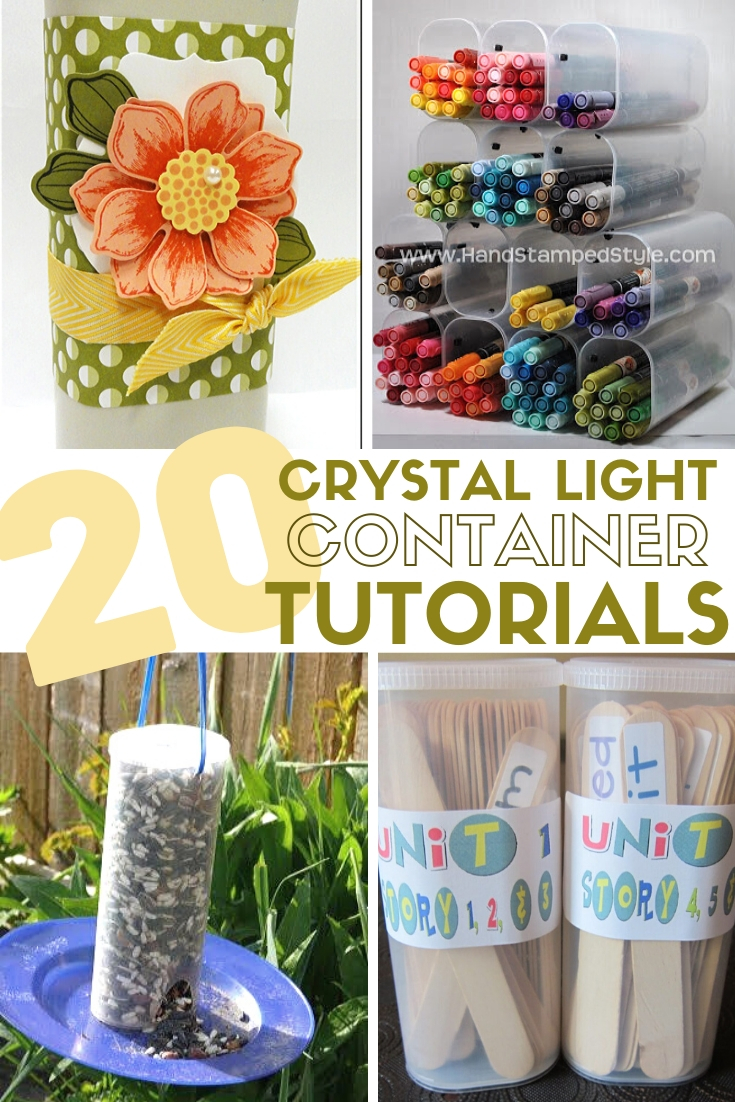 Title image for 20 Thrifty Ways to Repurpose Crystal Light Containers