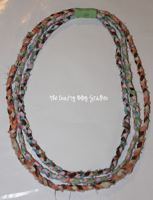 Tutorial using fabric scraps. Make a no-sew, Braided Fabric Necklace ...
