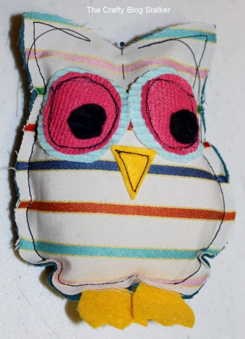 image of owl craft filled with rice