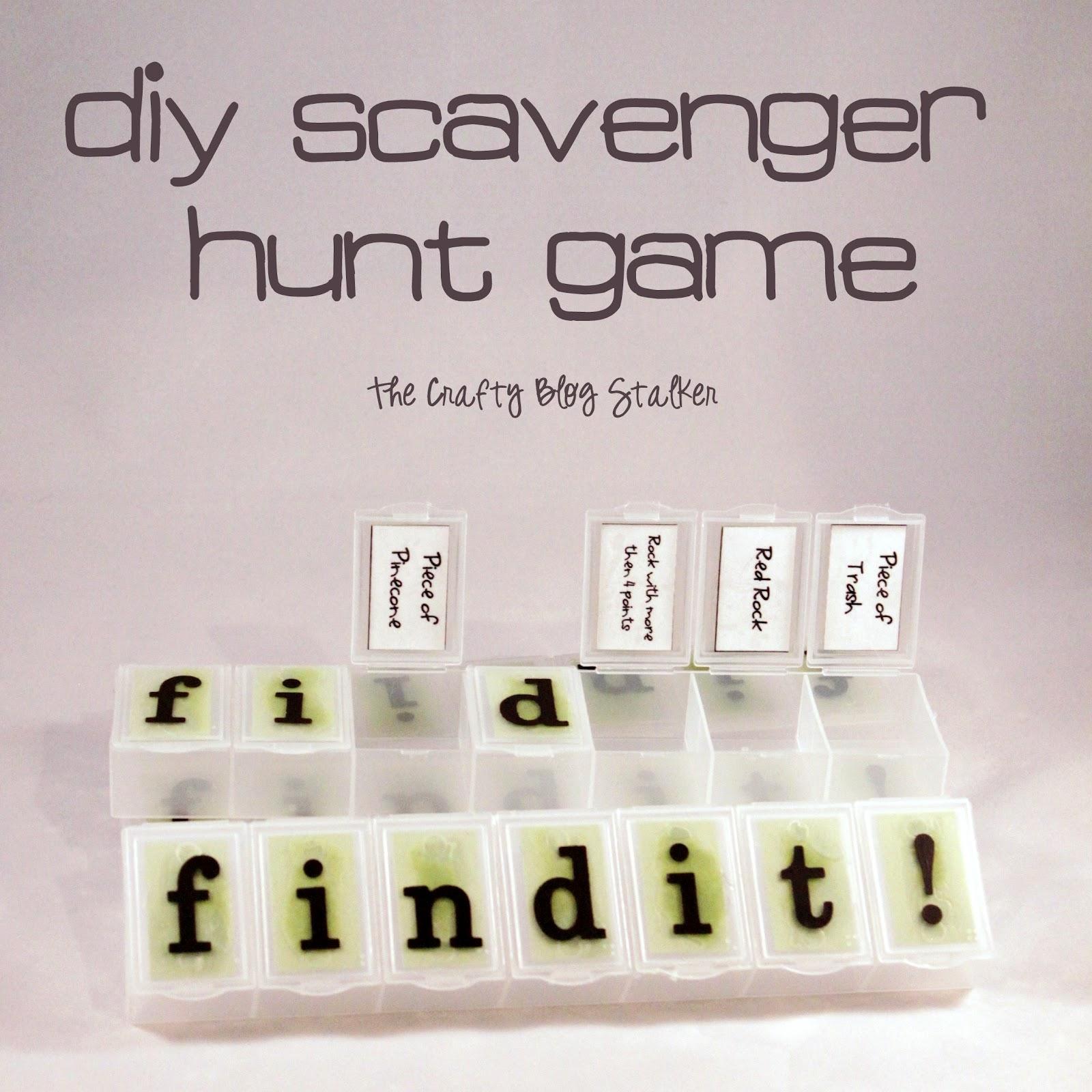 DIY Scavenger Hunt Find It Game