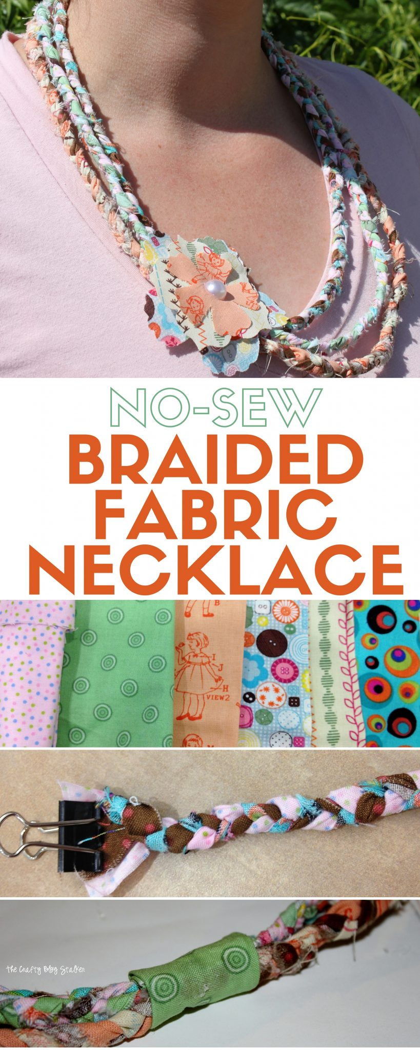 no sew craft ideas no sew braided fabric necklace tutorial the crafty 5035