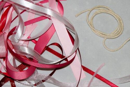 piles of scrap ribbon