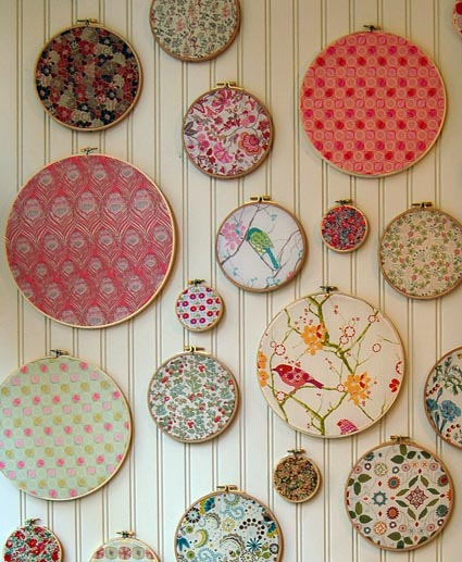 You can make all sorts of fun projects using Embroidery Hoops. This post includes over 20 ideas from home decor, wall art, and even a chandelier.