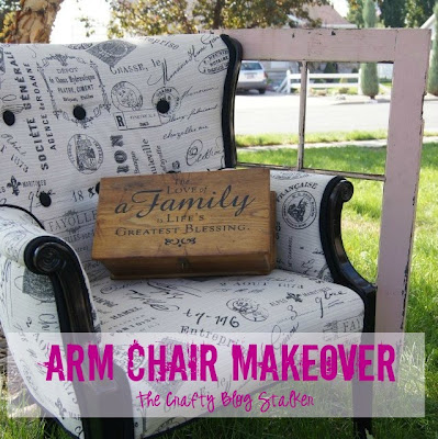 Armchair Makeover | Upholstering Project | Furniture | Home Decor | Fabric and Paint