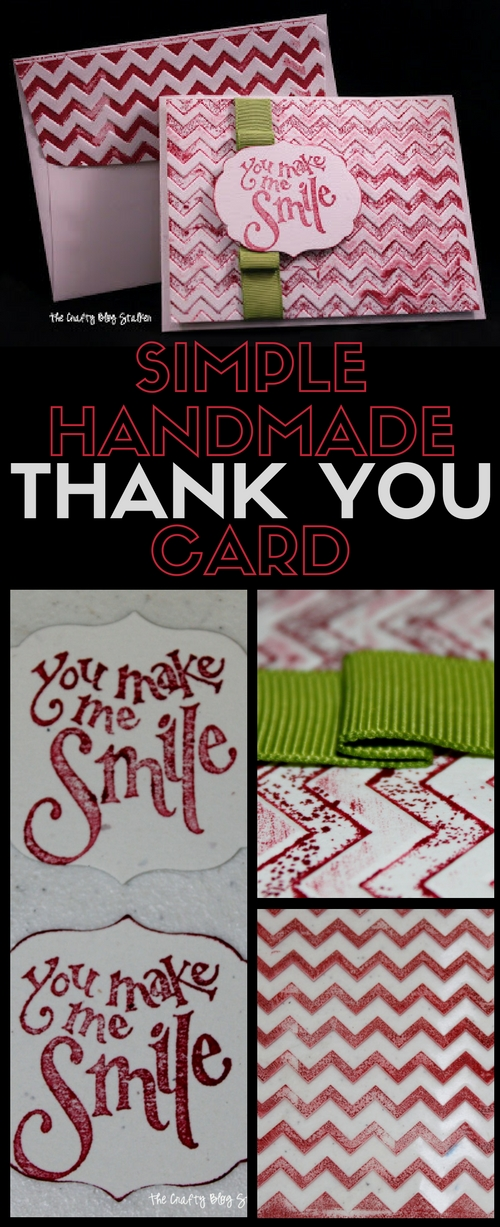 Say thank you with a beautiful handmade thank you card. Handmade cards are simple to make and you can do it too! A simple DIY craft tutorial idea.